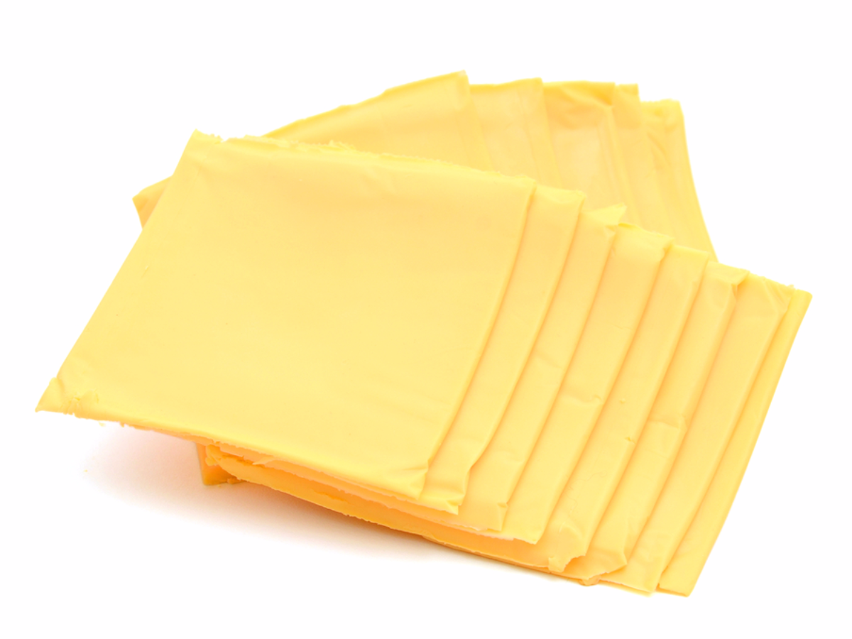 how many calories in a slice of american cheese photo - 1