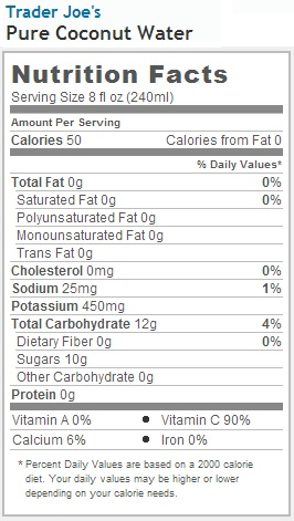 how many calories in coconut water photo - 1