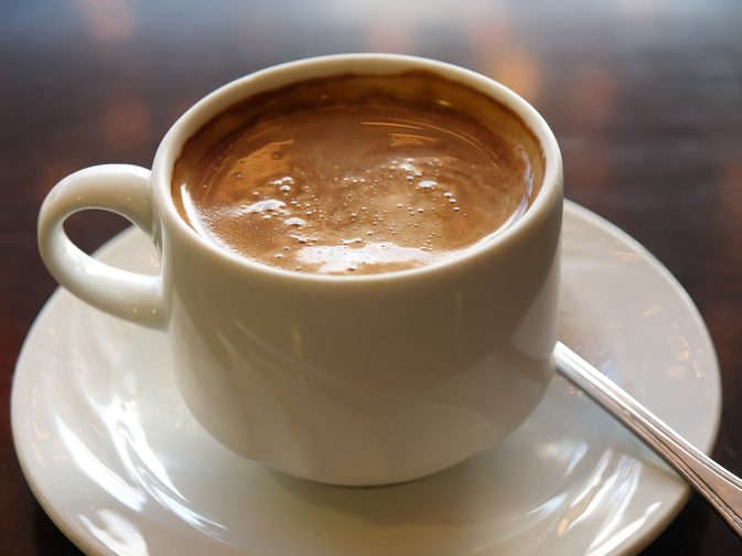 how many calories in coffee with milk photo - 1