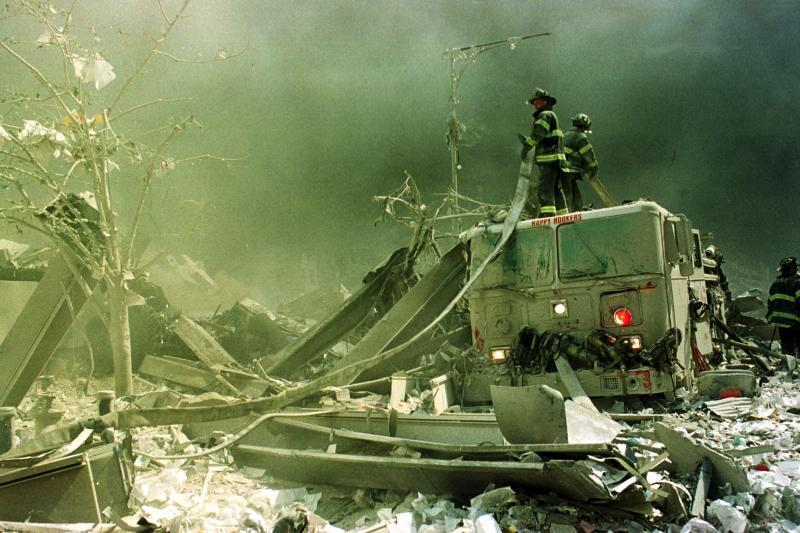 how many firefighters responded to 9 11 photo - 1