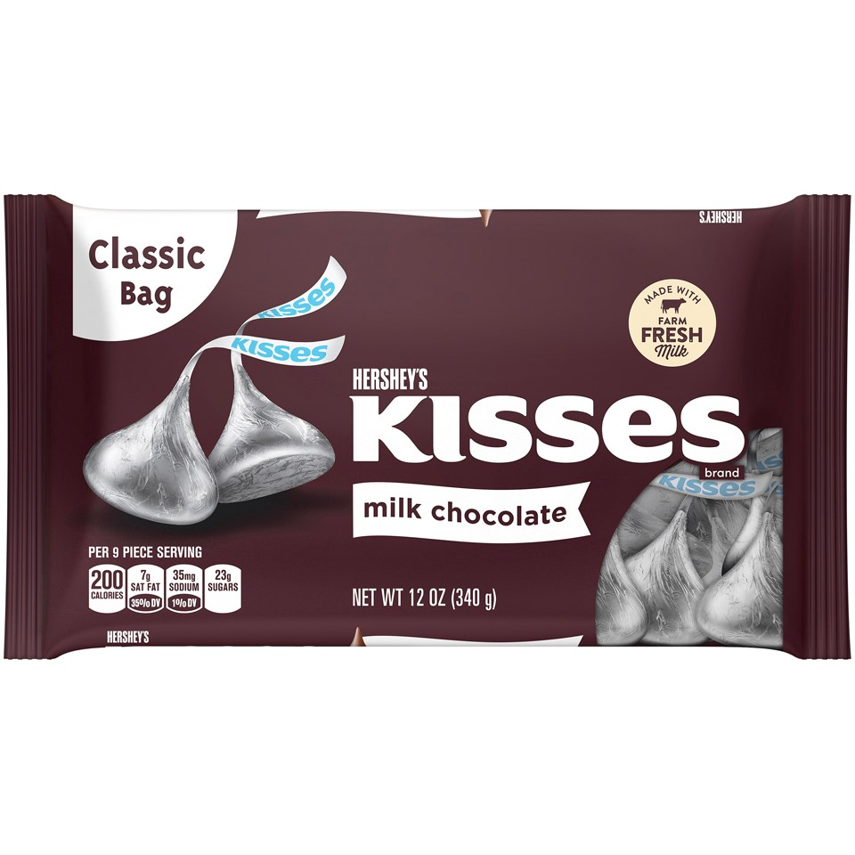 how many hershey kisses in a 12 oz bag photo - 1