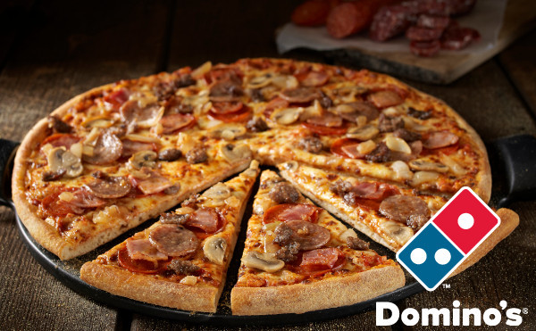 how many slices in a medium dominos pizza photo - 1
